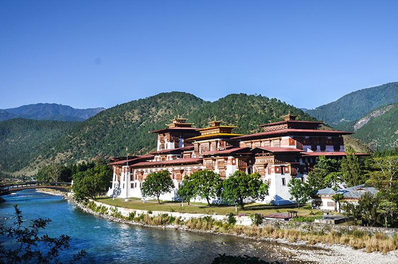 Trongsa Dzong, a Buddhist monastery castle