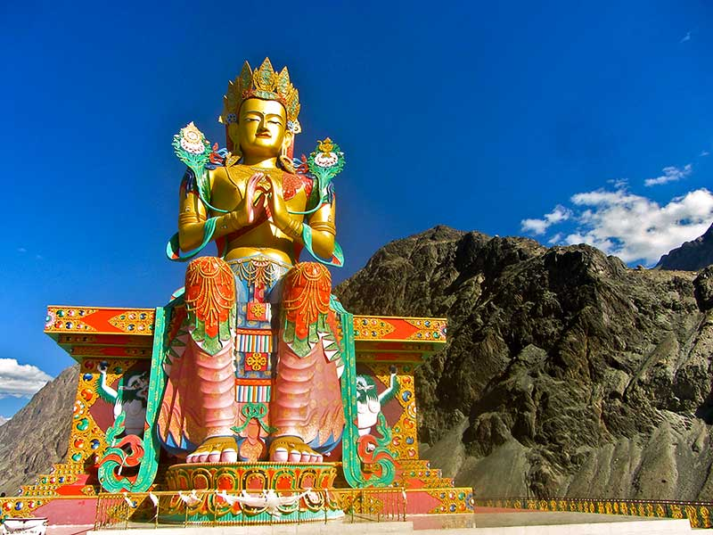 Snake Buddha statue at Likir Monastery