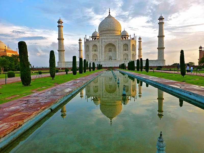 Taj Mahal at Agra near Delhi