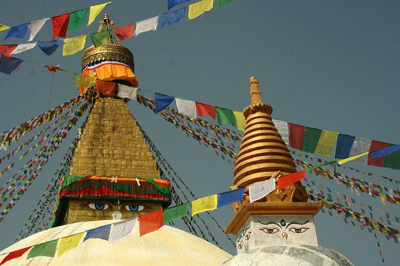 View of temple at Kathmandu