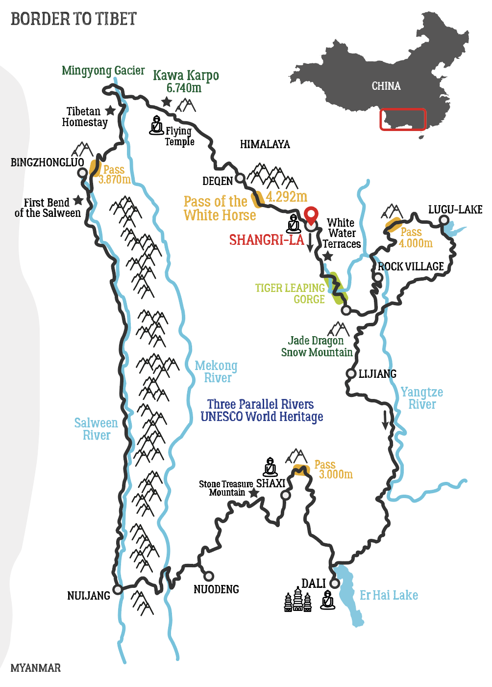 Map of Ladakh Motorcycle Tour