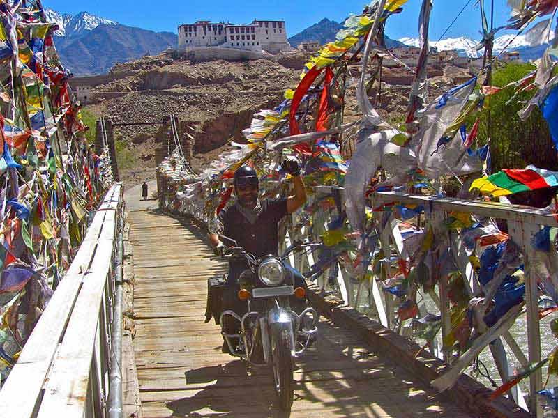 Ride over the wooden bridge to Shakti Valley